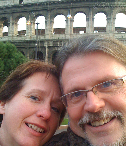 Selfie vor dem Kolosseum