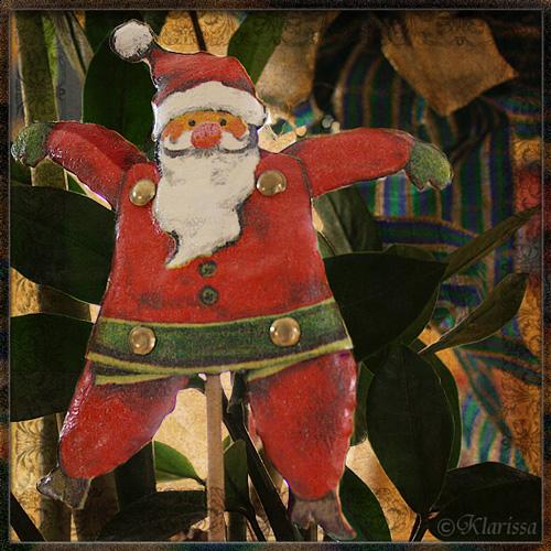 Serviettentechnik-Weihnachtsmann